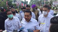Mantan Kepala BIN AM Hendropriyono usai mengikuti upacara HUT ke-75 RI. ( foto: istimewa)