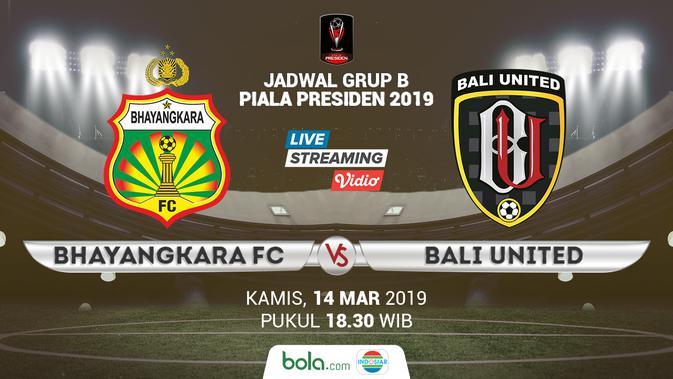 Live Streaming Indosiar Bhayangkara FC vs Bali United di Piala Presiden 2019 - Bola Liputan6.com