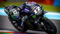 Pembalap Monster Energy Yamaha, Maverick Vinales. (Twitter/Yamaha MotoGP)