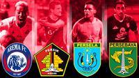 Persebaya Surabaya, Persela Lamongan, Arema FC, Persik Kediri. (Bola.com)