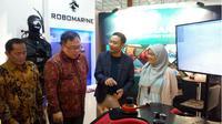 Menteri PPN/ Kepala Bappenas Bambang Brodjonegoro mengomentari sistem transportasi massal di Bandung. (Liputan6.com/ Huyogo Simbolon)