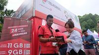 Telkomsel uji jaringan dan layanan di Test Event Asian Games 2018 (Foto: Telkomsel)
