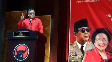Sekjen PDIP Hasto Kristiyanto di Semarang, Jawa Tengah, Selasa (19/11/2019).