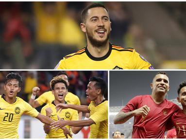 FIFA per Jumat (14/6/2019) merilis ranking terbaru untuk timnas putra. Ranking terbaru muncul setelah FIFA Matchday pada 3-11 Juni 2019, terlewati. Belgia tetap berada di puncak, Indonesia mengalami turun peringkat dan dilewati oleh Malaysia. (Photo Collage)