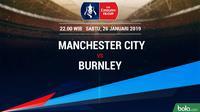 Piala FA: Manchester City Vs Burnley (Bola.com/Adreanus Titus)