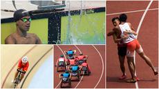 Momen Pilihan Asian Para Games 2018 Hari ke-6 diwarnai dengan selebrasi yang dilakukan Jendi Pangabean. Ada juga pertarungan cabang sepeda indoor yang mulai dipertandingkan. (Tim Bola.com)