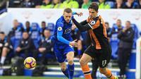 Bek Hull City asal Italia, Andrea Ranocchia. (AFP/Lindsey Parnaby)