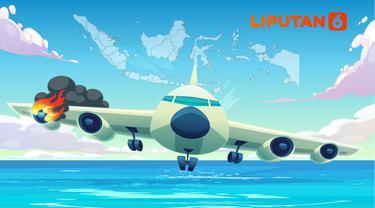 Ilustrasi kecelakaan pesawat (Liputan6.com / Abdillah)