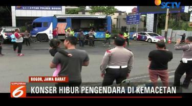 Karena mendapat sambutan baik dari pengendara, rencananya pihak Polres Bogor akan mengadakan konser musik setiap libur panjang di kawasan Puncak.