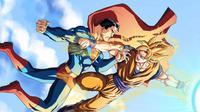 Ilustrasi Superman melawan Son Goku Dragon Ball. (moviepilot.com)