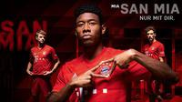Penampakan jersey baru Bayern Munchen, yang diluncurkan kemarin.  (FOTO / FCBayern.com)