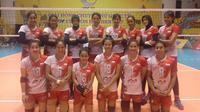 Timnas Putri Bola Voli Indonesia tampil dalam turnamen VTV Cup 2017 yang berlangsung di Hanoi, Vietnam, mulai 8 Juli 2017. (foto: Humas PBVSI)