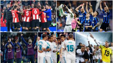 Berikut ini klub-klub di liga top Eropa yang belum pernah merasakan degradasi atau turun kasta.