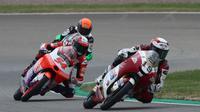 Andi Gilang pada balapan Moto3 Jerman di Sirkuit Sachsenring. (Honda Team Asia)