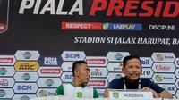 Pelatih Persebaya Djadjang Nurdjaman beryukur timnya lolos ke perempat final Piala Presiden 2019. (Huyogo Simbolon)