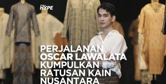 Oscar Lawalata dan Perjalanannya Kumpulkan Ratusan Kain Nusantara