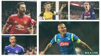 Pemain - Marek Hamsik, Antoine Griezmann, Marco Reus, Fernando Torres, Juan Mata (Bola.com/Adreanus Titus)