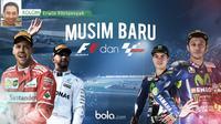 Musim baru F1 dan MotoGP (Bola.com/Dody Iryawan)