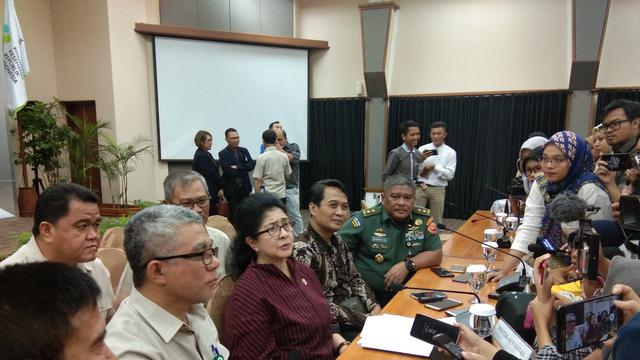 Kemenkes RI menggelar konferensi pers terkait keamanan tenaga kesehatan di Papua pascakerusuhan Wamena. (Foto: Giovani Dio/Liputan6.com)