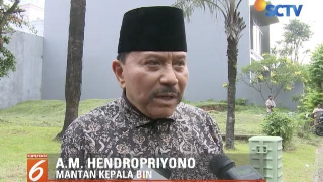 Jelang penetapan hasil Pemilu 2019, Hendropriyono ajak tokoh masyarakat tidak melakukan politik jalanan.