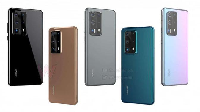 Deretan smartphone Huawei P40. (Doc: Gizchina)