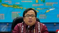 Menteri Keuangan Bambang Brojonegoro saat melakukanketerangan pers terkait penyelundupan 270kg sabu, Jakarta, Selasa (20/10/2015).