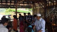 Relawan Edhie Baskoro Yudhoyono (EBY) menggelar acara santunan anak yatim. (Istimewa)