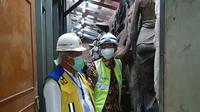 Menteri PUPR Basuki Hadimuljono mengunjungi lokasi pemugaran atau renovasi Gedung Sarinah Thamrin di Jakarta. (Dok Kementerian PUPR)