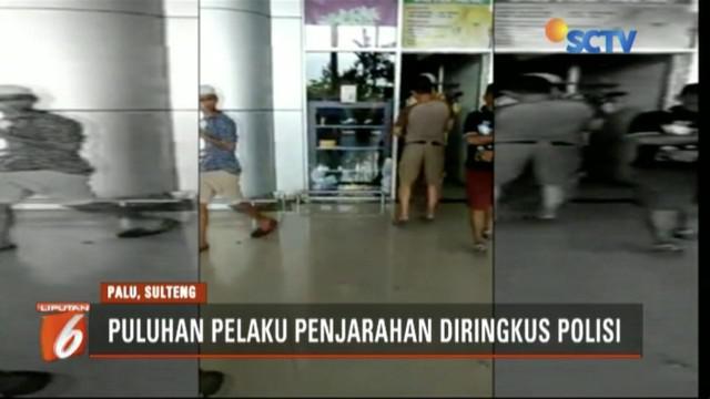 Polisi tangkap 35 pelaku penjarahan di lokasi bencana Donggala dan Palu, Sulawesi Tengah.