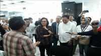 Menkeu Sri Mulyani pantau pelaporan SPT di KPP (Foto: Liputan6.com/Ilyas I)