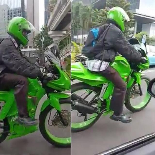 Jadi Viral Pria Ini Modifikasi Sepedanya Mirip Motor Sport Citizen6 Liputan6 Com