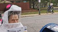 Foto viral nenek 102 Tahun di  Chicago saat mengikuti pemungutan suara (@CTULocal1/Twitter).