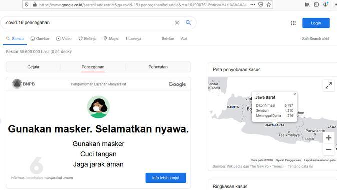 Pengumuman Layanan Masyarakat di Hasil Penelusuran Google Search