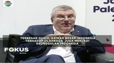 Presiden IOC Thomas Bach menyatakan Indonesia layak jadi tuan rumah ajang olahraga terbesar tingkat dunia, olimpiade.