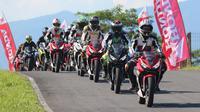 PT Astra Honda Motor (AHM) bersama PT Daya Adicipta Motora (DAM) menggelar All New Honda CBR 150R Track Day