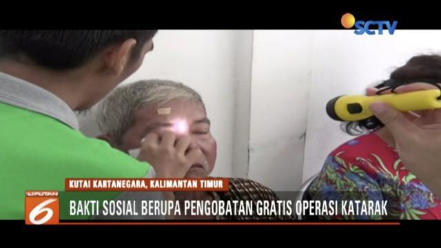 YPP SCTV-Indosiar, Perdami, dan Pemkab Kutai Kartanegara gelar operasi katarak gratis d Puskesmas Kembang Janggut.