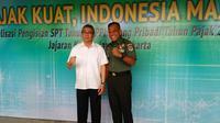 Direktorat Jenderal Pajak Kemenkeu memberikan sosialisasi pengisian Surat Pemberitahuan Tahunan (SPT) kepada seluruh perwira menengah Kodam Jaya/Jayakarta. (Merdeka.com/Anggun P. Situmorang)