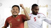Indonesia vs Uni Emirat Arab: Evan Dimas vs Ali Salmeen. (Bola.com/Dody Iryawan)