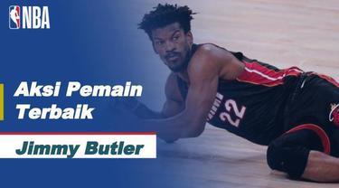 Berita Video aksi-aksi terbaik Jimmy Butler saat Miami Heat kalahkan LA Lakers di gim 3 Final NBA 2020, Senin (5/10/20).
