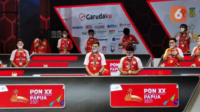 Penutupan ekshibisi esports PON XX Papua 2021. (Liputan6.com/ Yuslianson)