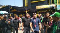 Kaesang Pangarep hadir dalam Grand Launching Sang Pisang di Cirebon. Foto (Liputan6.com / Panji Prayitno)