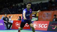 Pebulutangkis tunggal putra Indonesia, Anthony Sinisuka Ginting, lolos ke babak semifinal Thailand Masters 2017. (PBSI)