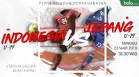 Persahabatan Internasional Indonesia U-19 Vs Jepang U-19 (Bola.com/Adreanus Titus)