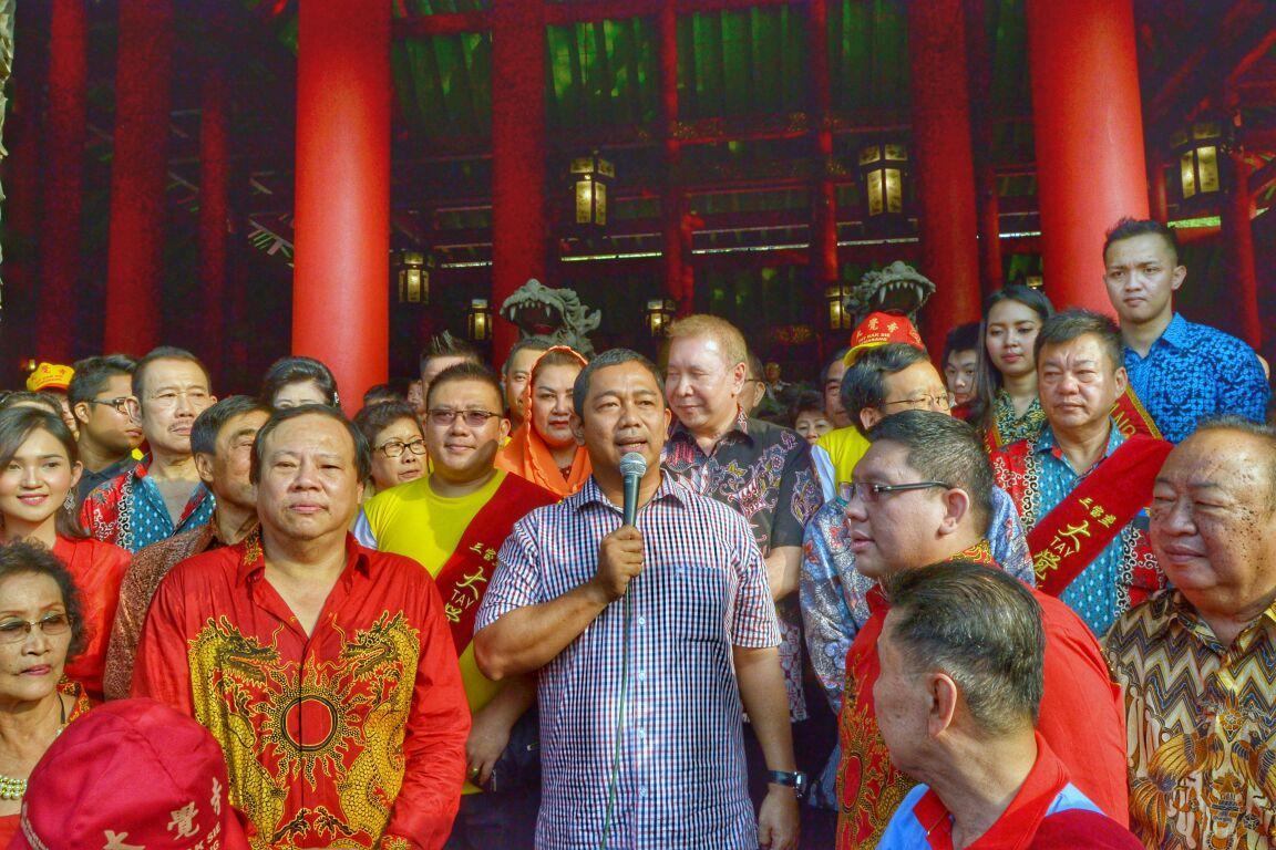 Wali Kota Semarang Hendrar Prihadi memberi sambutan pentingnya menjaga keberagaman di Semarang. (foto : Liputan6.com/vega/edhie prayitno ige)