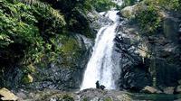 Panorama alam air terjun kali jodoh di Kabupaten Pinrang, Sulsel dijamin bisa memanjakan para jomlo (Liputan6.com/ Eka Hakim)