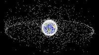 Ilustrasi sampah antariksa di orbit Bumi (NASA)