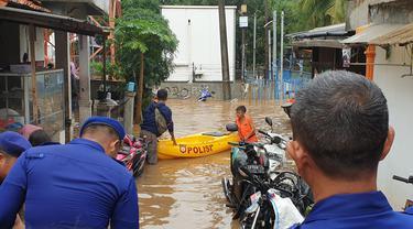 Kawasan Cipinang Melayu, Jakarta Timur, kembali terendam banjir
