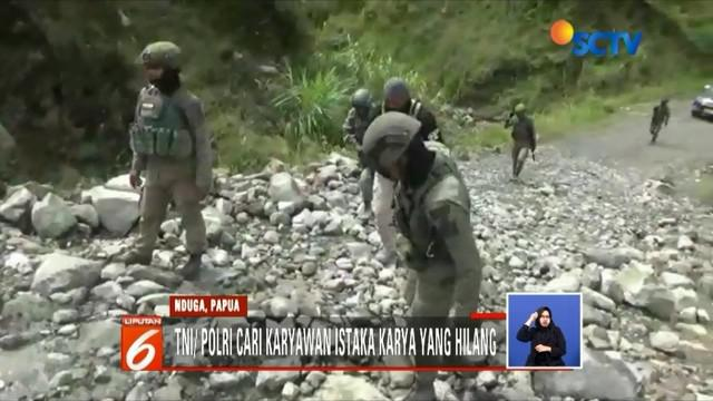 Lima karyawan PT Istaka Karya, hingga kini dinyatakan hilang saat terjadi pembantaian oleh KKB. Aparat gabungan masih terus mencari dengan menyusuri distrik Yigi dan Bukit Kabo.