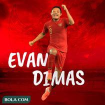 Timnas Indonesia - Evan Dimas (Bola.com/Adreanus Titus)
