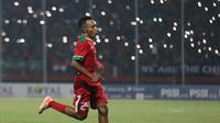 Todd Rivaldo Ferre, tampil apik saat Timnas Indonesia U-19 mengalahkan Vietnam 1-0, Sabtu (7/7/2018) di Stadion Gelora Delta, Sidoarjo. (Bola.com/Aditya Wany)